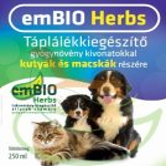 emBIO Herbs Táplálékkiegészítő kutyák és macskák részére 250 ml