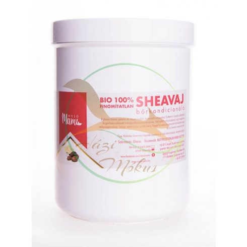 BIO Shea vaj finomítatlan (tégelyben) 1000 ml