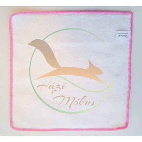 VIXI Bambusz mosogatókendő rózsaszín szegéssel (25x25)
