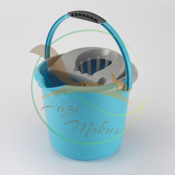 VIXI Csavarókosaras felmosóvödör kék (12 L-es)