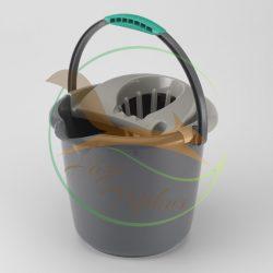 VIXI Csavarókosaras felmosóvödör szürke (12 L-es)