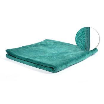 VIXI Fürdőlepedő sötétzöld szaténszegett (70x140)