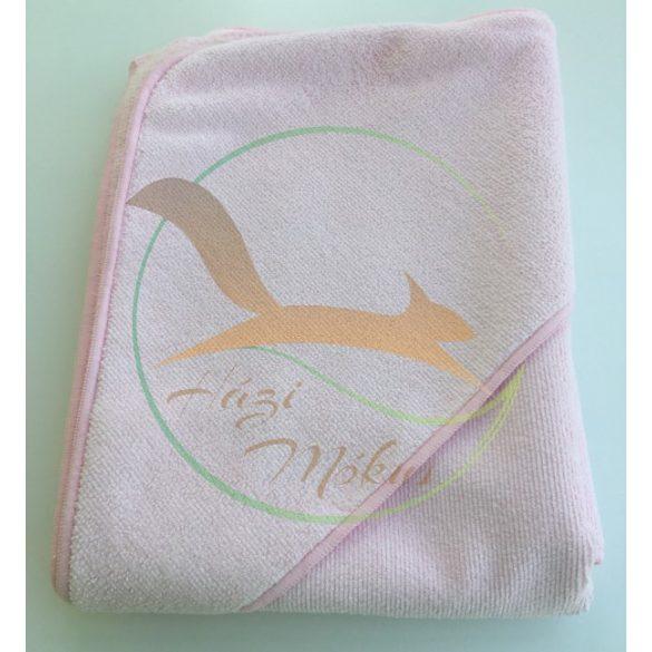 VIXI Gyermek kapucnis fürdőlepedő rózsaszín (90x90)