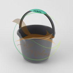 VIXI Kis takarító vödör szürke (6 L-es)
