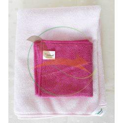 VIXI Utazunk szett rózsaszín (Kistörölköző + Kozmetikai kendő)